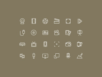 Simple Photo And Video Icon Set icons freebie icon set psd abstract icons photo icons video icons