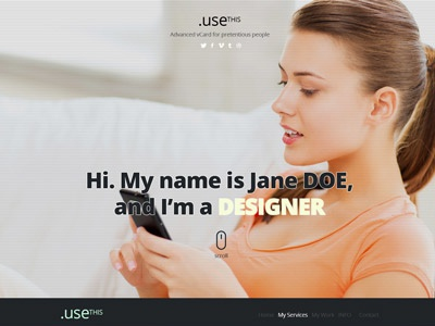 UseThis single page website
