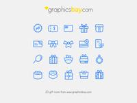 20 Gift Icons - Freebie