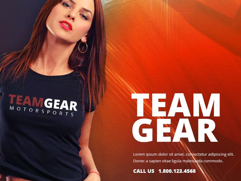 Team Gear - Online shop template shop template free psd freebie template freebie single page template web template psd psddd