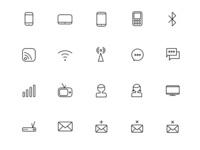 Free PSD Communication Icons
