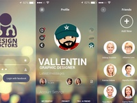 Social UI App PSD - Design Doctors ui psd free app design social retina pixel perfect ui kit ui design ui app app design