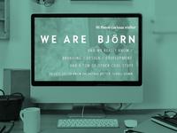 BJöRN Multipurpose Landingpage template web design psd free one page freebie