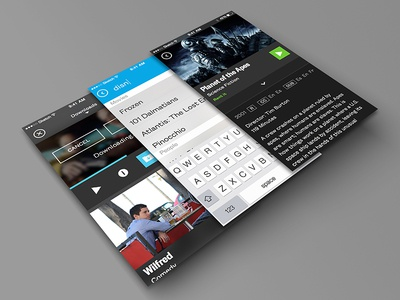 VOD Platform vod ios movie watchlist ui design