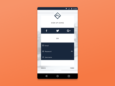 Daily UI 001: ADSR Sign Up ui design sign up day 001 daily ui dailyui android