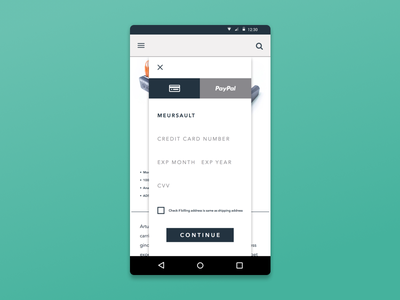 Daily UI 002: Credit Card Checkout ui design credit card checkout day 002 daily ui android dailyui