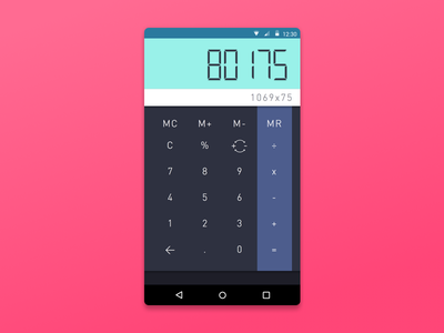 Daily UI 004: Calculator daily ui ui design calculator dailyui
