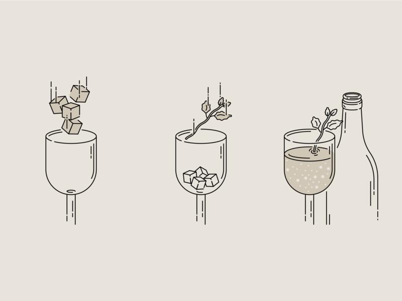 Freixenet Ice Cava Serve Mint illustrator cc vector art illustration