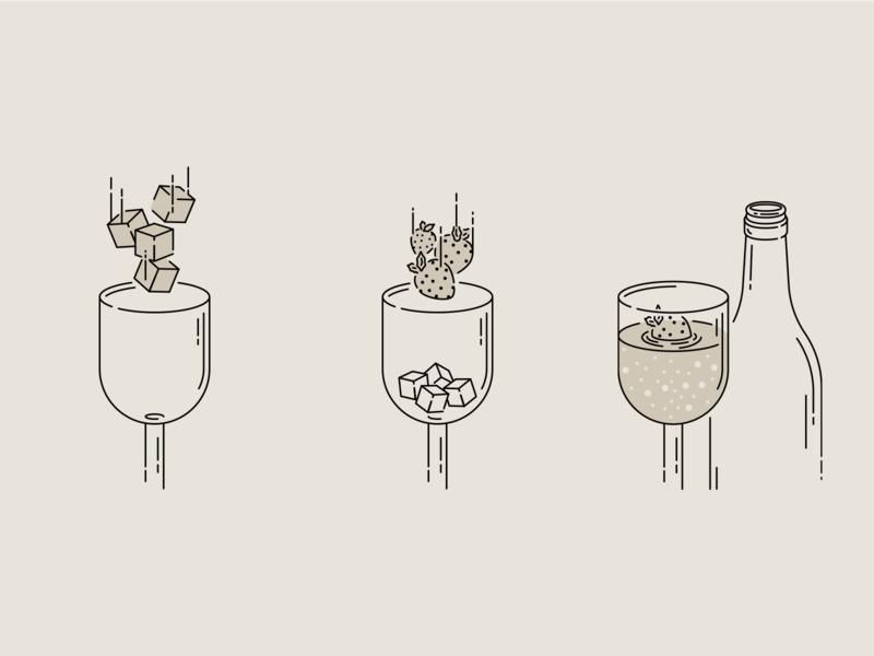 Freixenet Ice Cava Serve Strawberry illustrator cc vector artwork illustration