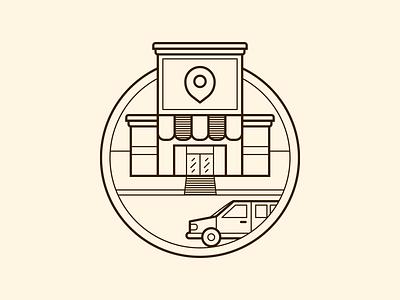 Freixenet Store Finder Illustration - Final illustrator cc icon design vector art illustration