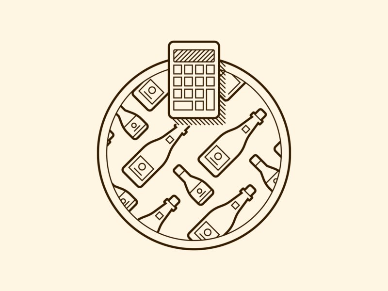 Freixenet Cava Calculator Illustrator illustrator cc vector art icon design illustration