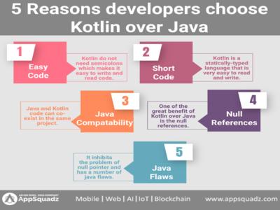 5 Reasons developer choose kotlin over Java kotlin application development kotlin