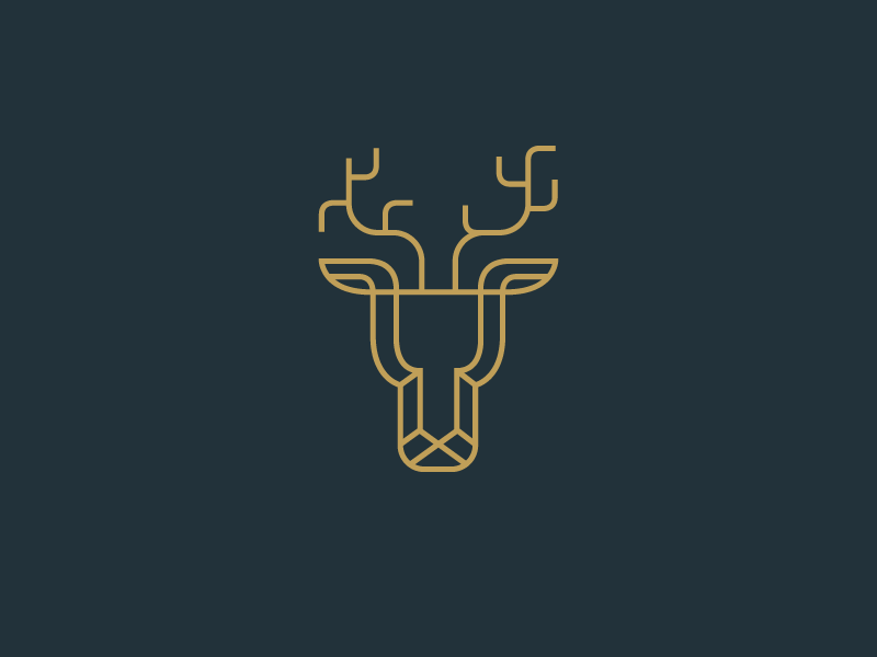 Geometric Deer animal illustration animal illustration low poly geometric geometry simple minimal minimalist animal line