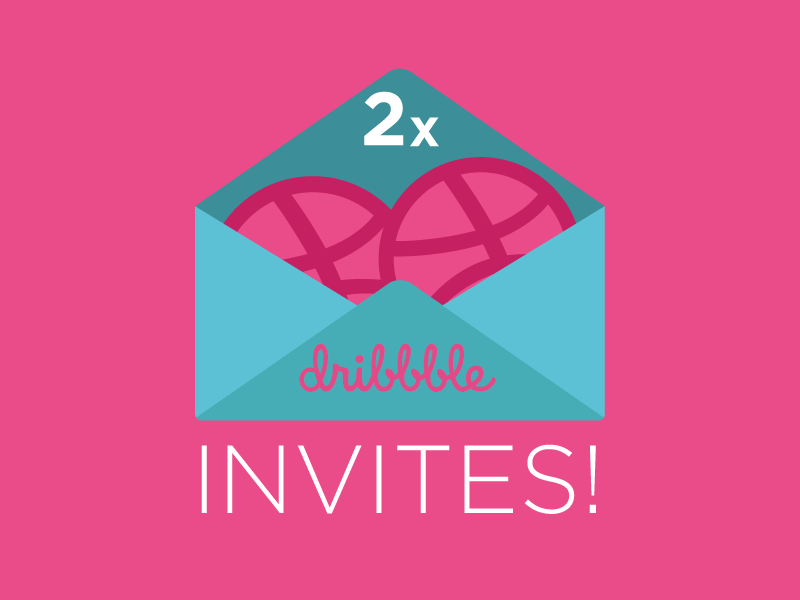 2x Dribbble Invites to Giveaway! giveaway contest dribbble invite dribbble invite