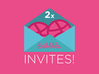 2x Dribbble Invites to Giveaway!