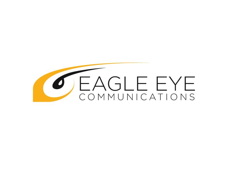 Eagle Eye Communications Branding flat clean brand bird illustration identity branding vector design logo