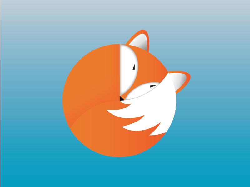 Cosy Fox animal design mark animal fox branding vector icon design illustration