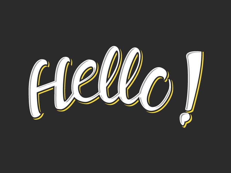 Hello! // Brush Lettering brush lettering hand lettering brush type typography design lettering