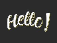 Hello! // Brush Lettering