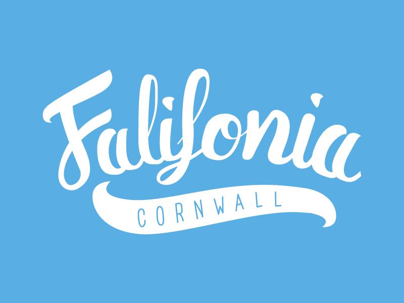 Falifornia // Brush Lettering brush pen script brush lettering type branding vector typography logo design