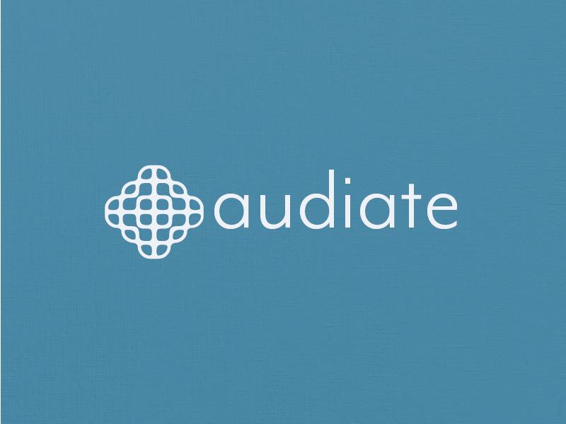 audiate - Logo Concept chladni sound vector type icon design identity branding brand logo