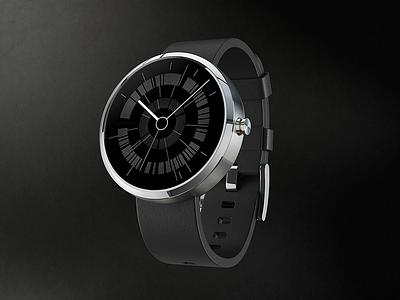 Zoe Jordan Watch face - 'Dark' moto360 smartwatch wearable clock ui watch