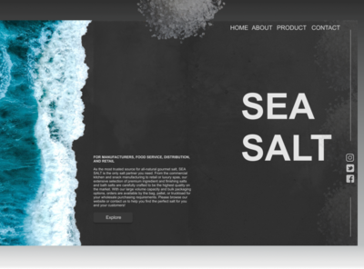 SEA SALT trending ui illustration 2020 trend prototype modern salt sea dark black webdesign website 2020 design figma