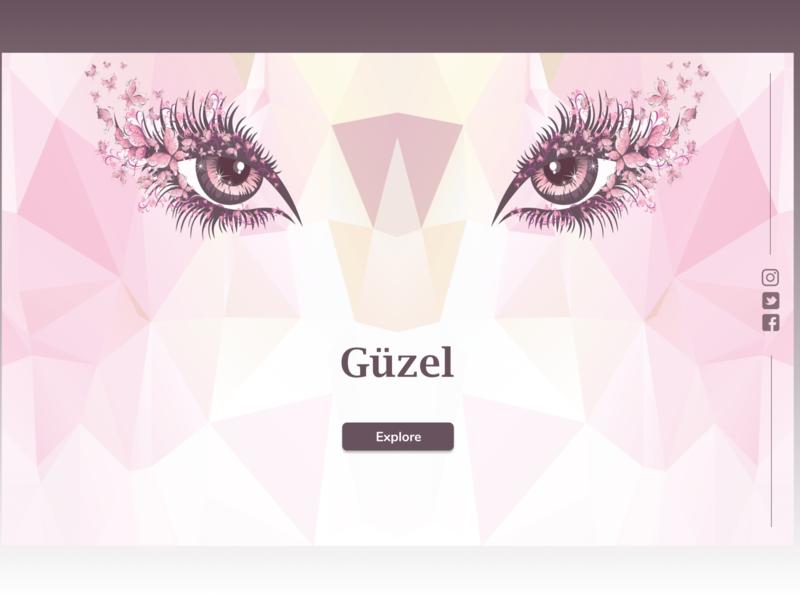 Güzel landing page prototype trending illustration design ui branding website design purple pink beauty website 2020 design figma