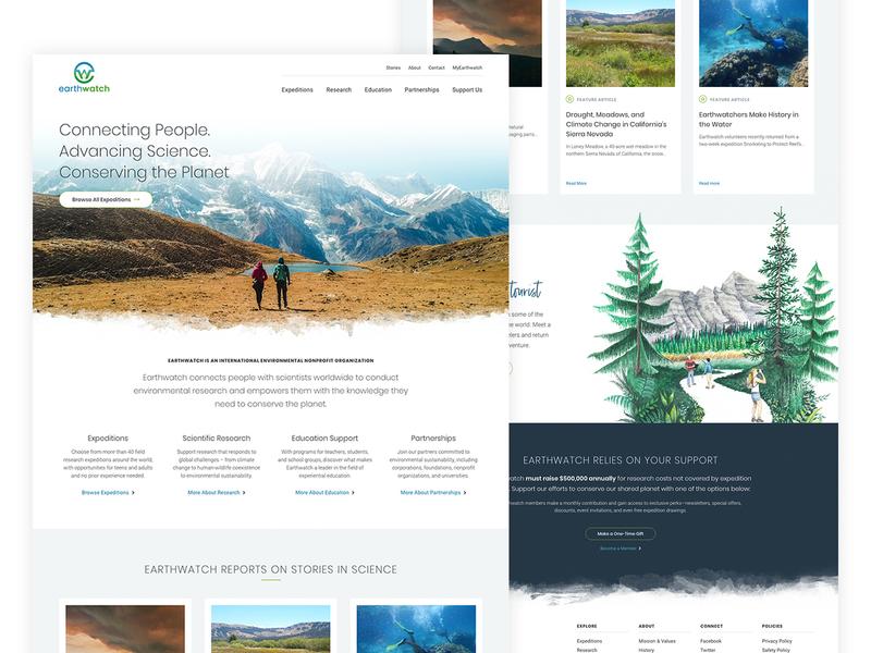 Earthwatch - Redesign website concept website design website earthwatch earth expeditions nature ux ui homepage home concept redesign design