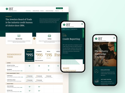 JBT Redesign web design product ux redesign typography website ui design