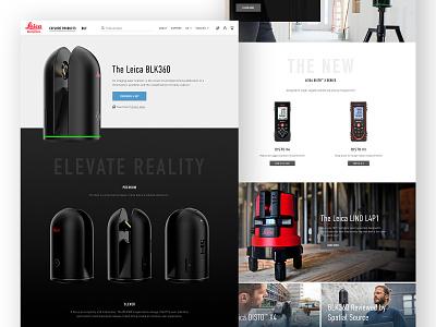 Leica Website Design home page landing product typography design ecommerce ux ui redesign website design website