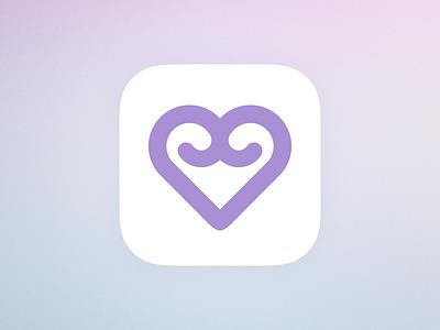 Warmie App Icon dailyui app icon heart purple ipad sketch iphone apple ios logo icon