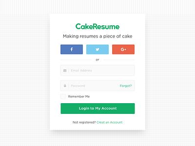 CakeResume Login Page register resume sso signin website web login
