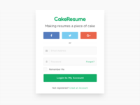 CakeResume Login Page