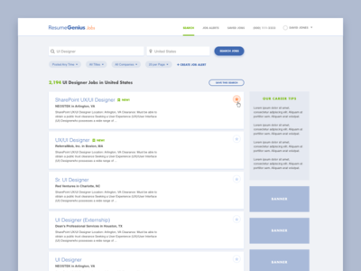 Jobs Search Page