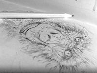 Gorilla pencil doodle