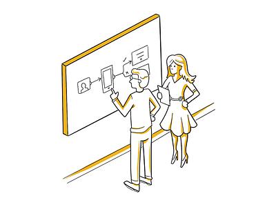 Education Experts Illustration isomorphic outlines design graphics illustration