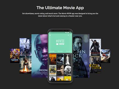 Movie App landing page mobile movie app landing page