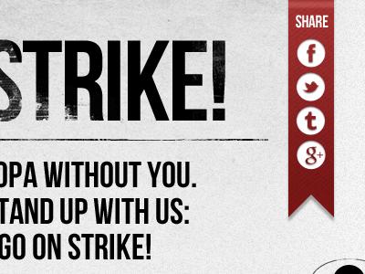STRIKE! sopa strike share