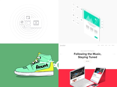 Our Best Shots of 2018 icon branding vector design illustration ux dwaiter website interface