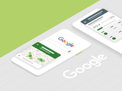 Google App - Case Study header visual graphics web case study