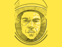 Illustrated graphic - The Martian