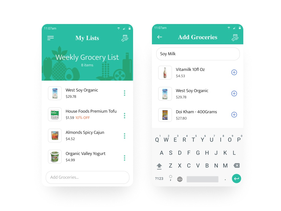 Grocery List and Shop by Wilmer Murillo on Dribbble