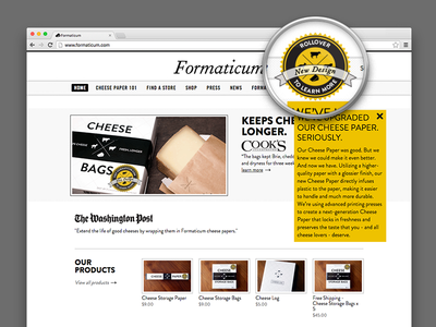 Formaticum Cheese Paper Rollover For More Info  rollover lockup nav bar more info