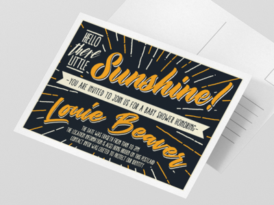 Typographic Invitation Postcard postcard typography