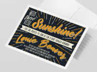 Typographic Invitation Postcard