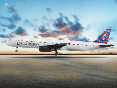 Dead & Company Jet airplane dead  company jet wrap having fun