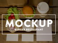 Burger restaurant mockups