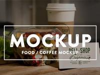Food Coffee PSD Mockups update