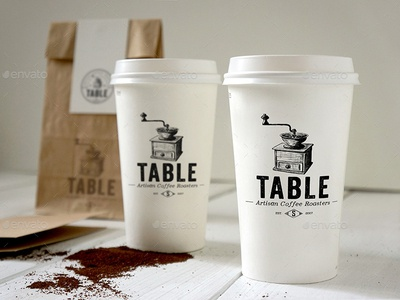 Coffee Branding Mockup mock-up handdrawn logo paper cup coffee branding coffee design coffee mockup psd mockup mockup restaurant cafe coffee coffee logo